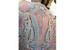 Kashmir-peitto, sini-puna-musta, 200cm*140cm, 100% kashmir
