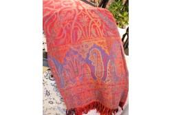 Kashmir-peitto, punainen, 200cm*140cm, 100% kashmir